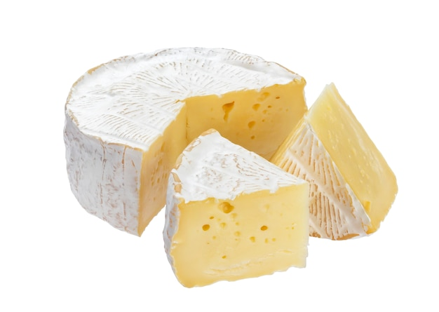 Camembert cheese with clipping path