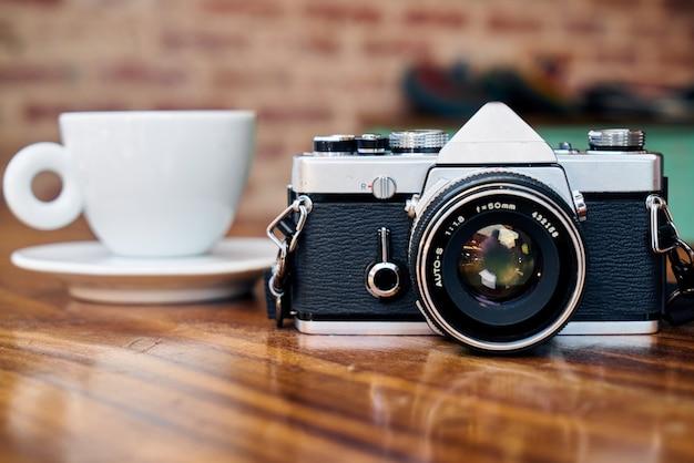カメラとコーヒー