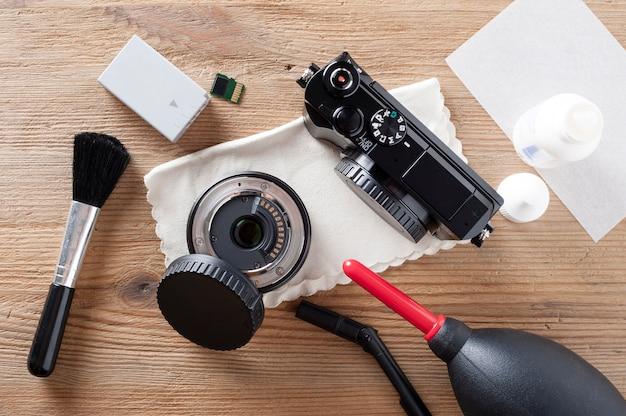 カメラとレンズのクリーニング