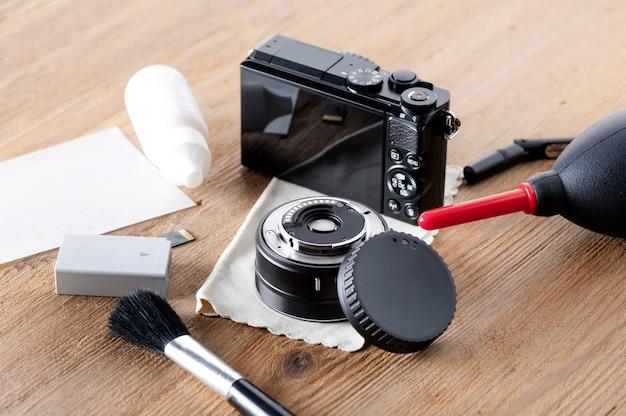 カメラとレンズのクリーニング Premium写真