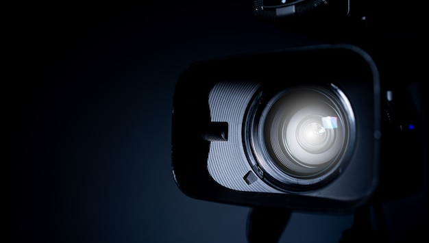 Camera and lens zoom, close-up photo