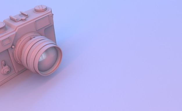 Camera render in purple