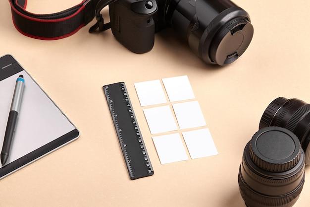 レンズ付きカメラ、グラフィック描画タブレット