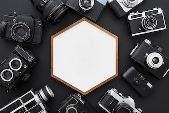 Cameras around hexagon frame