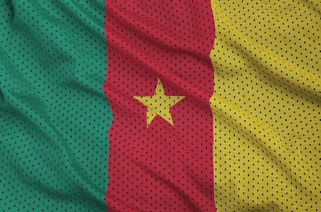 Камерунский флаг с принтом на сетке из полиэстера и нейлона для спортивной одежды
