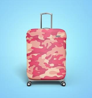 Camo pink suitcase