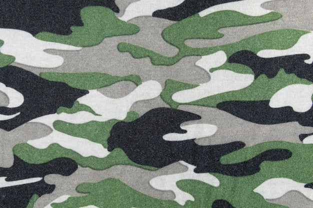 Camouflage pattern on fabric
