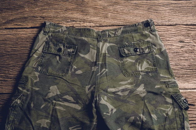 Camouflage pattern pants