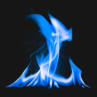 Campfire flame element, realistic burning fire image
