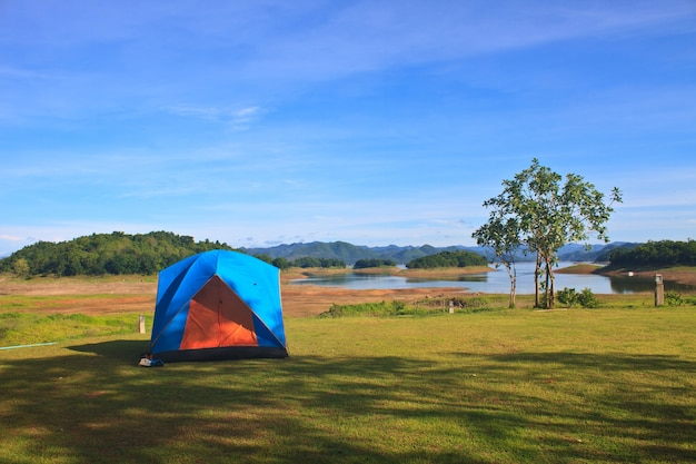 Campground in morning