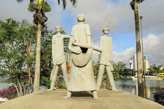 Campina grande paraiba brazil on october 09 2012 monument to the pioneers