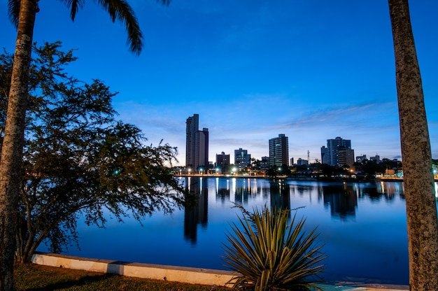 Campina grande, paraiba, brazil, view of the old weir with city buildings