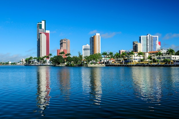 Campina grande paraiba brazil, view of the old weir with city buildings Premium Photo