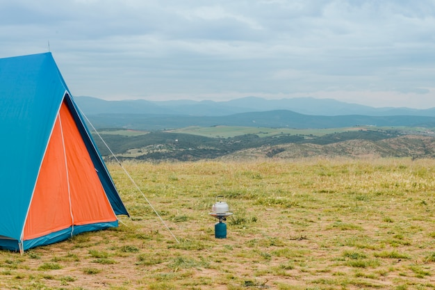 Camping in countryside