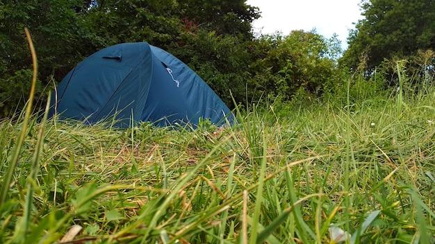 緑の森のキャンプテント