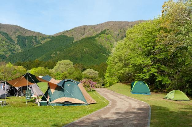 富士箱根伊豆国立公園のキャンプテント