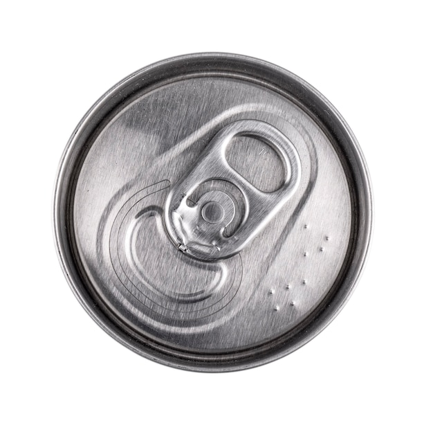 The can of food isolated, view from the top