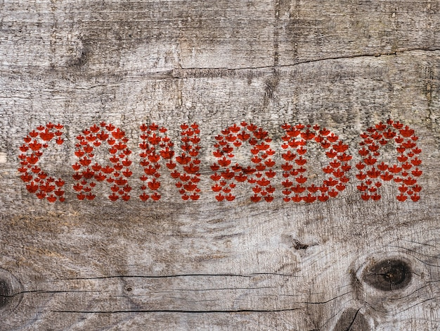 Canada day. beautiful greeting card. close up