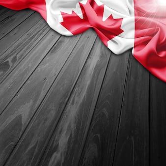 かすスタイルカナダの旗の背景