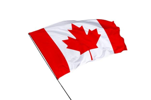 白い背景の上のカナダの旗