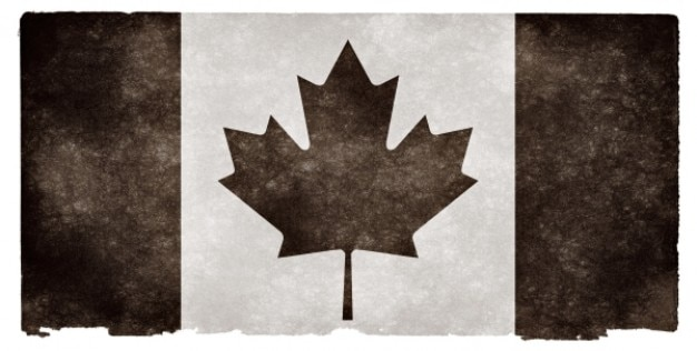 Canada grunge flag   black & white