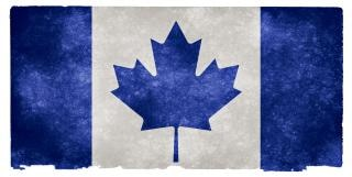 Canada grunge flag   blue  grey
