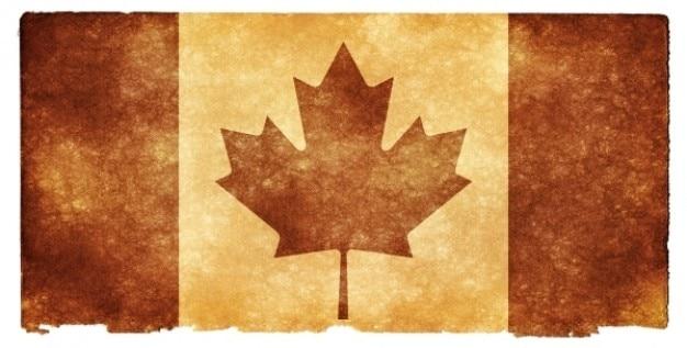 Canada grunge flag   sepia