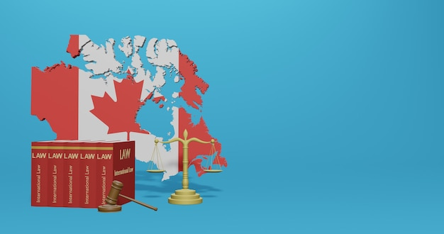 Canada law for infographics, social media content in 3d rendering