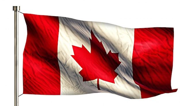 Национальный флаг канады, изолированных на белом фоне