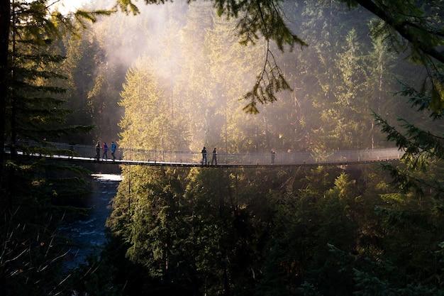 カナダの吊橋