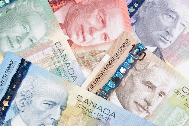 Canadian dollars, a business, background