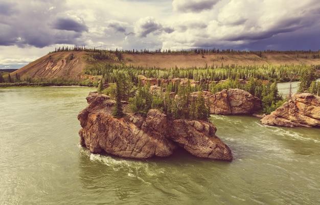 クロンダイクのカナダの風景