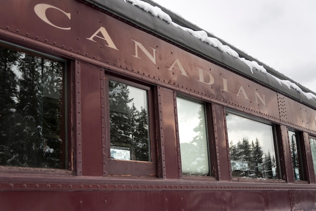Canadian pacific train, banff national park, alberta, canada