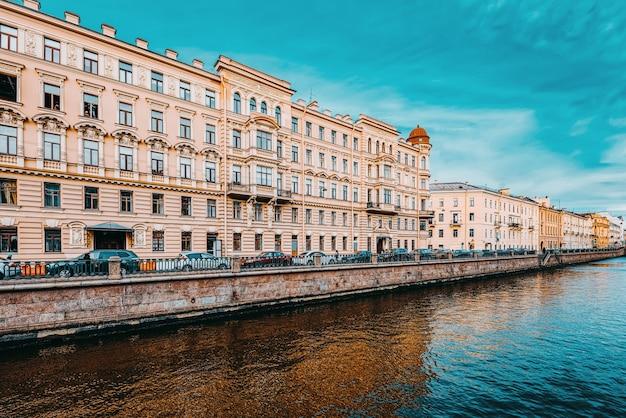 Канал грибобедова. городской вид санкт-петербурга. россия.