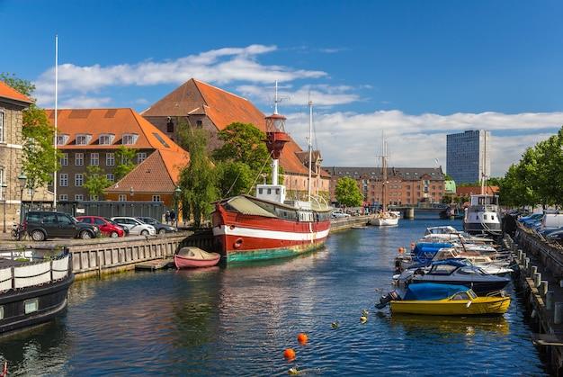 コペンハーゲン市内中心部の運河