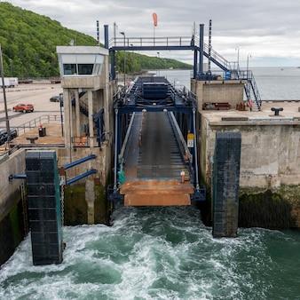 Canal lock on bay of fundy, digby, nova scotia, canada