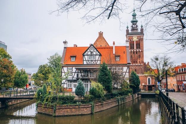 Каналы реки мотлава в польском городе гданьск
