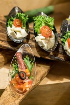 Canape on spoon