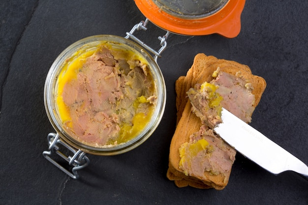 Canard foie gras pate made of the liver of a duck