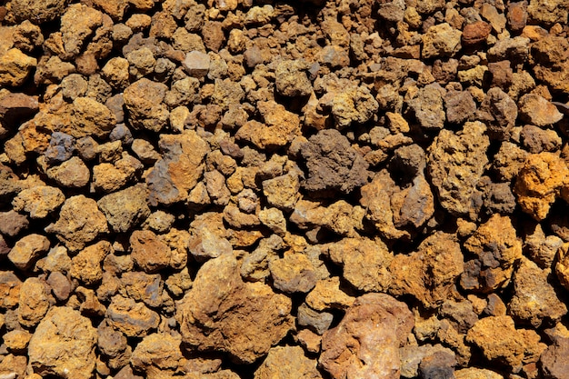 Canary islands volcanic stones texture