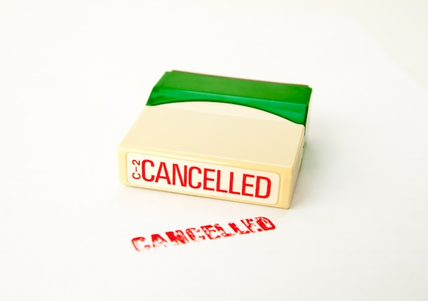 Cancelled stamp on white