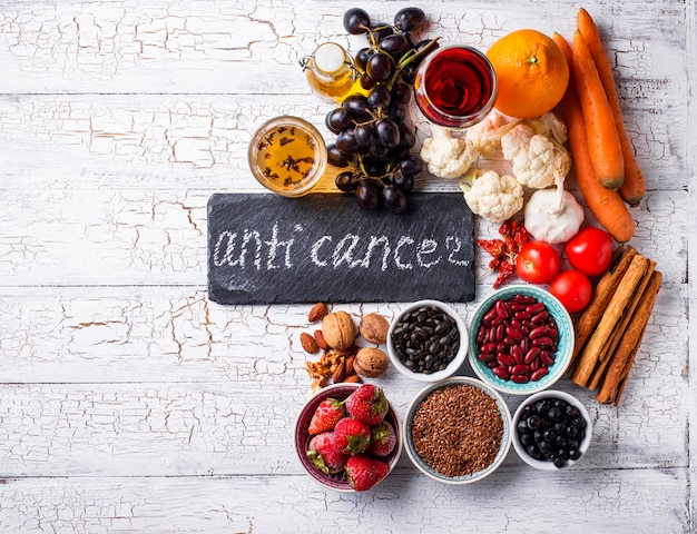 Cancer fighting products. food for healthy