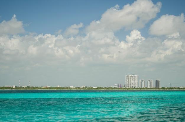 칸쿤 해변, 멕시코, 카리브.