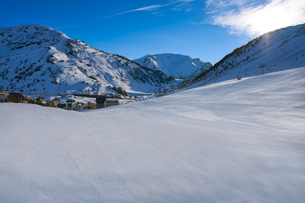 Candanchu ski in huesca on pyrenees spain
