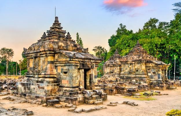 Candi plaosan kidul, a buddhist temple near prambanan in central java, indonesia