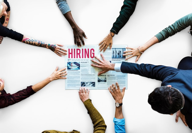 Candidates opportunity job hiring on a newspaper