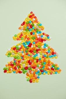 キャンディークリスマスツリー、上面図