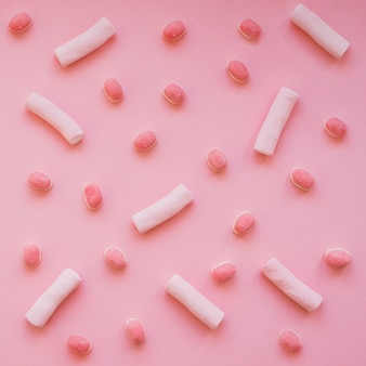 Candies and marshmallows