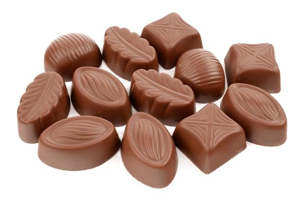 白い背景の上のキャンディー