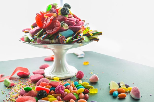 Candies on plate